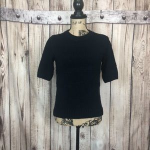NWT TOPSHOP Black Knit Short Sleeve Sweater Shift
